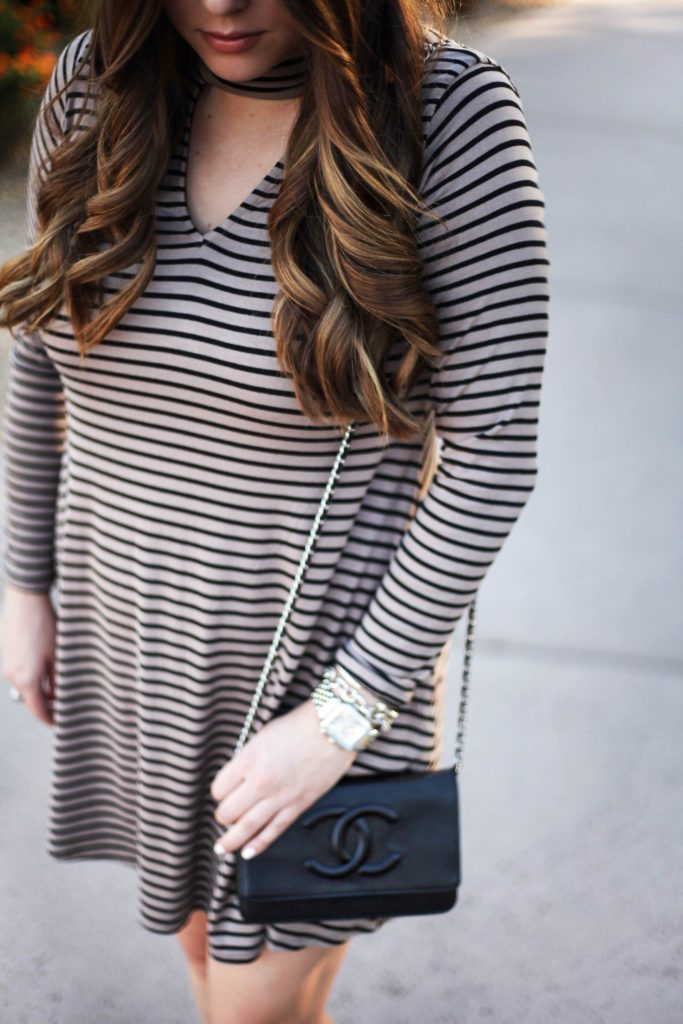 Socialite Mock Neck Dress - Fashion Blogger