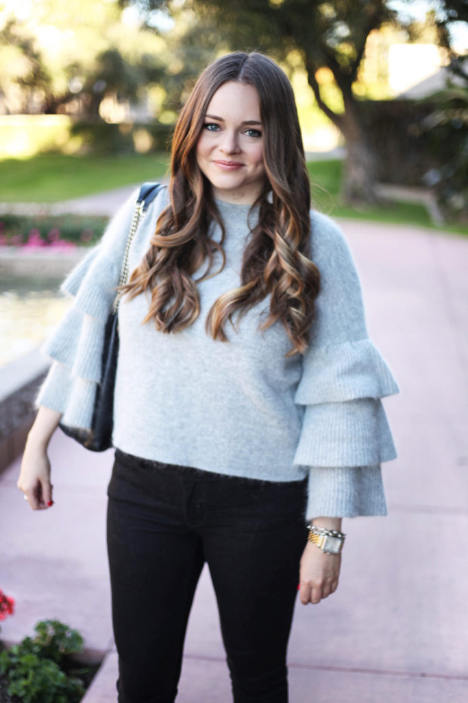 Arizona Blogger - Ruffle Sleeve Sweater