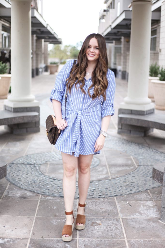 Vici Tie Dress - Arizona Blogger