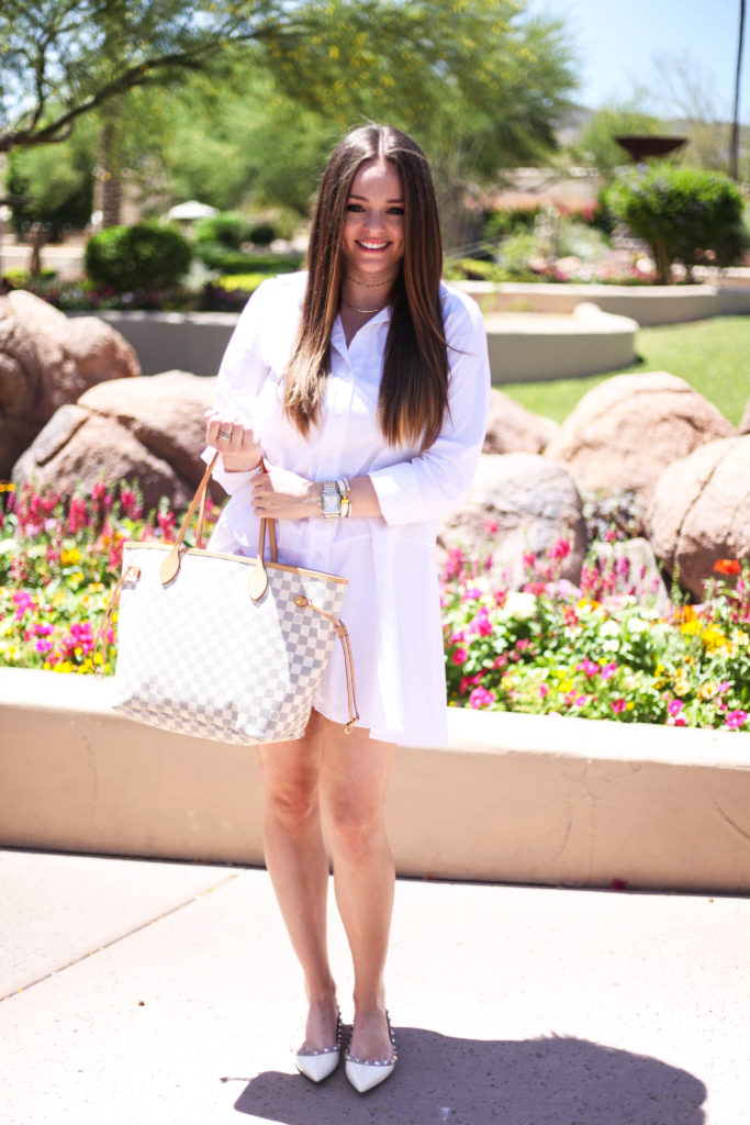 Arizona Fashion Blogger - White Shirt Dress