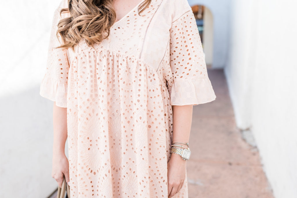 Fashion Blog - Anthropologie Eyelet Dress