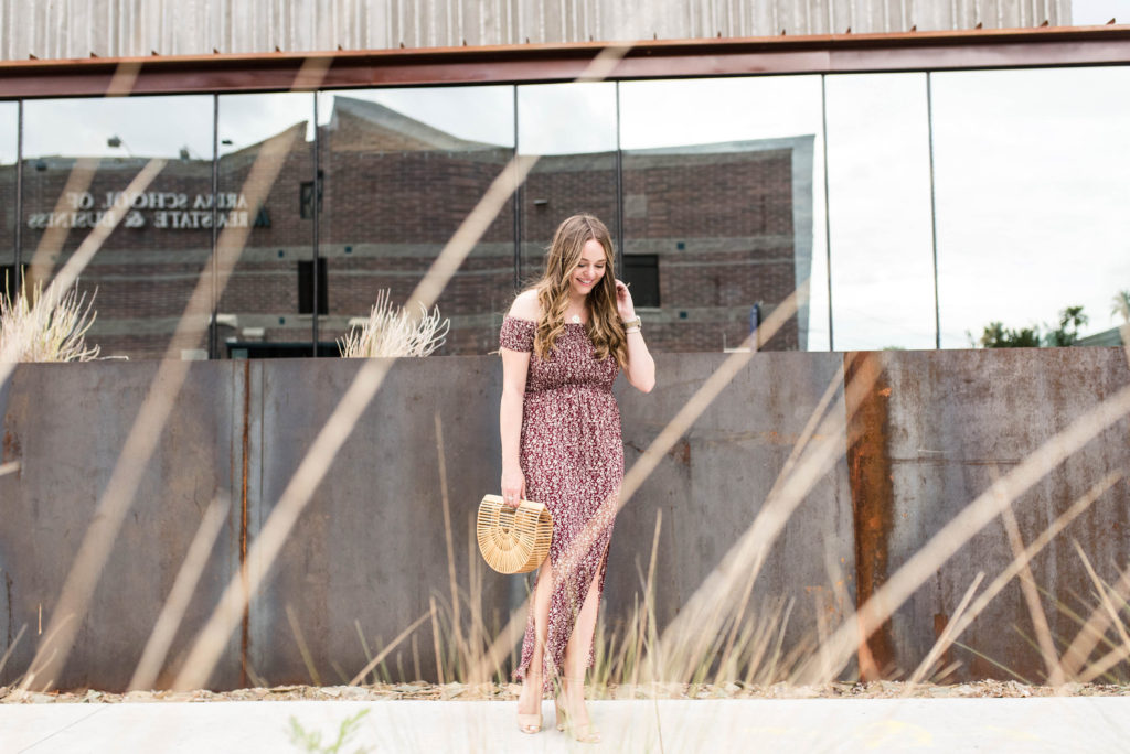 Arizona Fashion Blogger - Off the Shoulder Maxi Dress