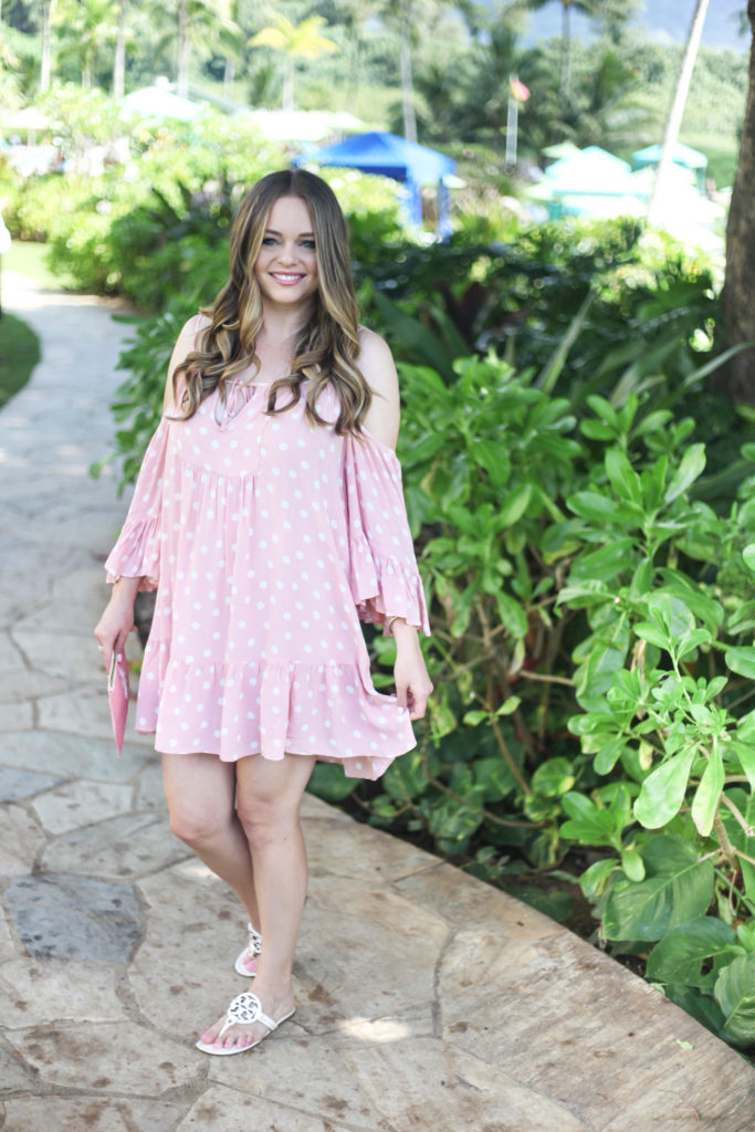 Hawaiian Vacation - Poka Dot Dress
