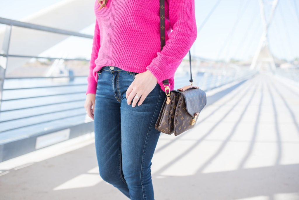 Arizona Fashion Blogger - Hot Pink Sweater