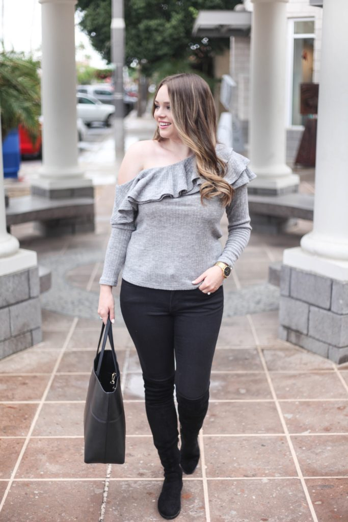 Fashion Blog - Cold Shoulder Sweater